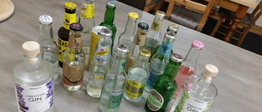 BRENNLUST | Verkostung von 16 Tonics mit den LIMESTONE London Dry Gins