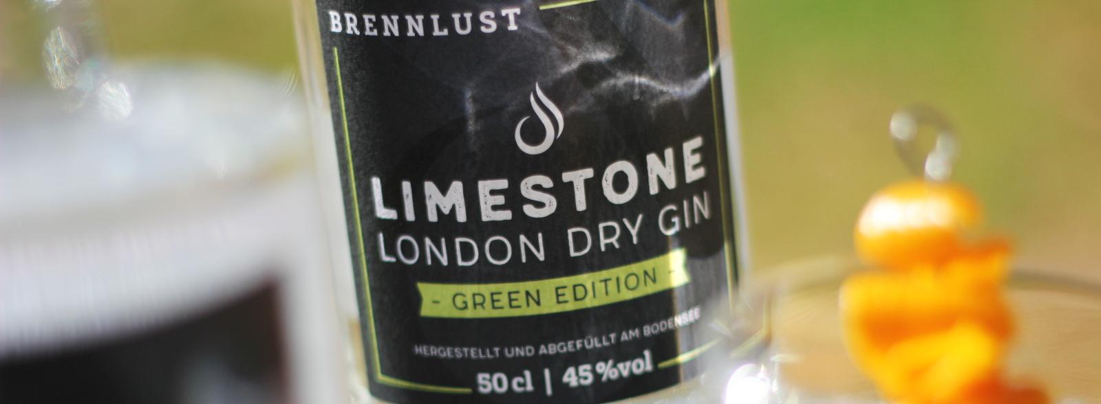 Brennlust Limestone London Dry Gin Green Edition