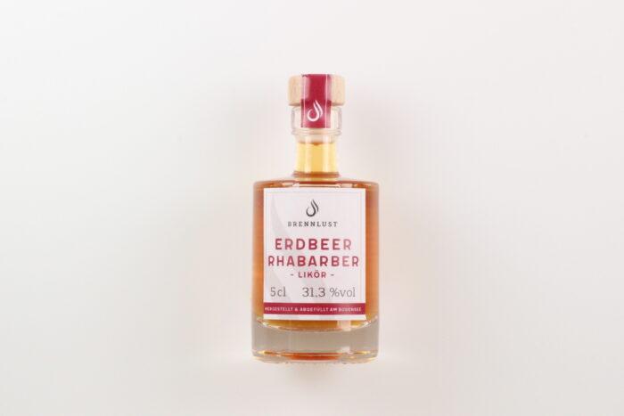 BRENNLUST Mini Erdbeer-Rhabarber-Likör 5cl