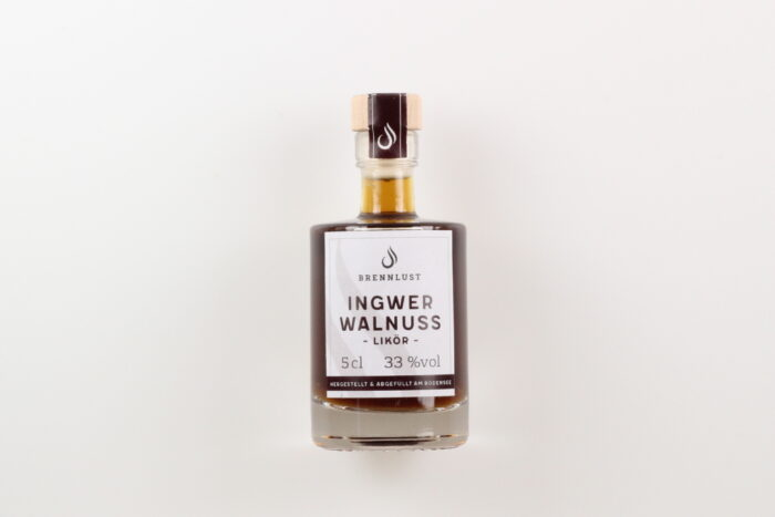 BRENNLUST Mini Ingwer-Walnuss Likör 5cl