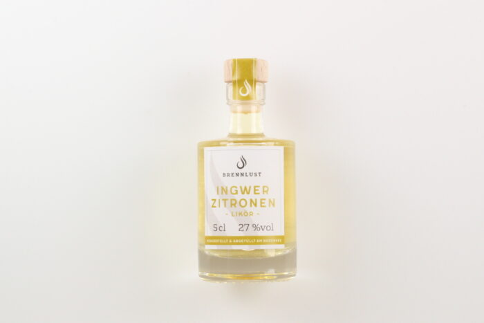 BRENNLUST Mini Ingwer-Zitronen Likör 5cl
