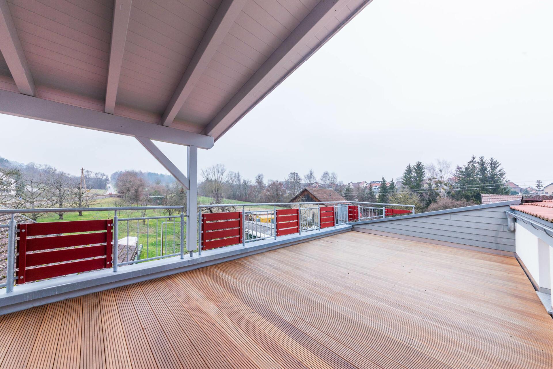 Ferienwohnung ReiseLUST: Dachterrasse