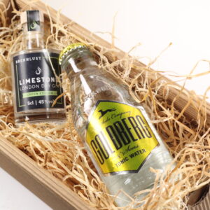 BRENNLUST Gint & Tonic Geschenk Set, LIMESTONE Gin Green Edition 5 cl + Goldberg Tonic Water 20 cl