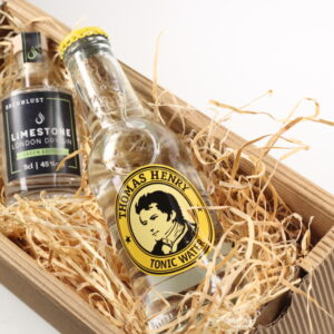 BRENNLUST Gint & Tonic Geschenk Set, LIMESTONE Gin Green Edition 5 cl + Thomas Henry Tonic Water 20 cl