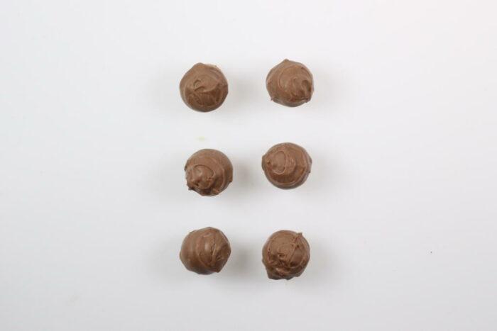 6 Stück Brennlust Trüffel mit Destillaten: Vollmilch Schokolade gefüllt mit Zwetschgen Brand