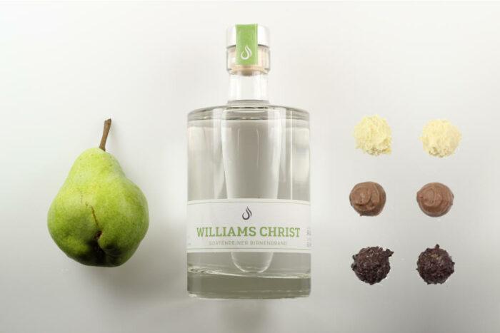 Geschenkset Williams Christ Brand 50 cl und 6 Brennlust Trüffel