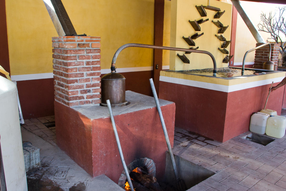 Destillerie einer traditionellen Mezcaleria in Oaxaca, 2014